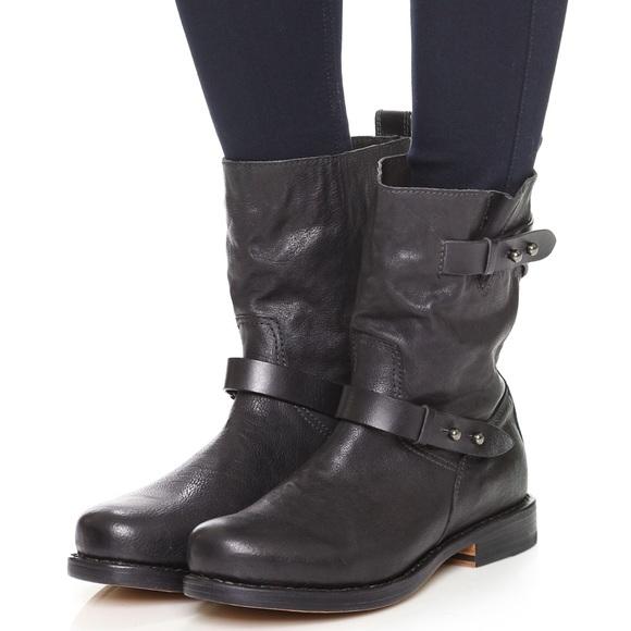 f5d07f5801d Rag & Bone Black Leather Biker Boots